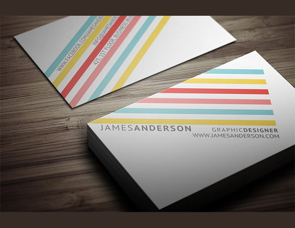 Крутые визитки с полосками для вдохновения
