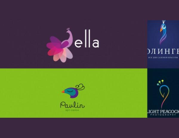 40 творческих логотипов с использованием павлина для вдохновения